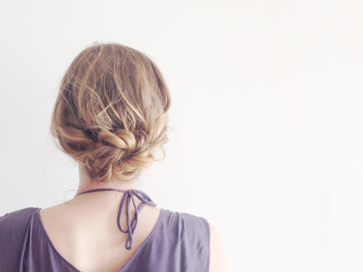Easy Summer Hairstyle Braided Updo In Four Steps